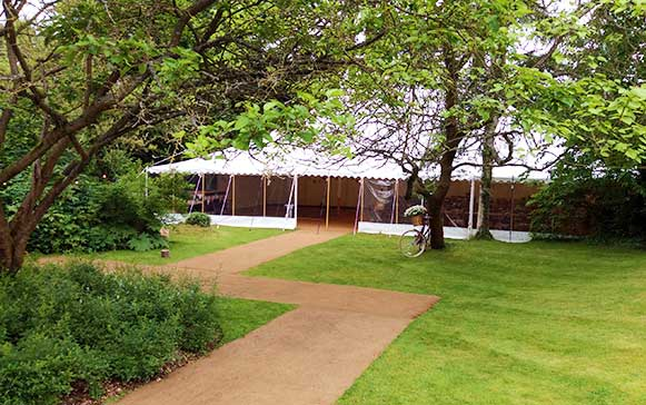 Traditional style wedding marquee