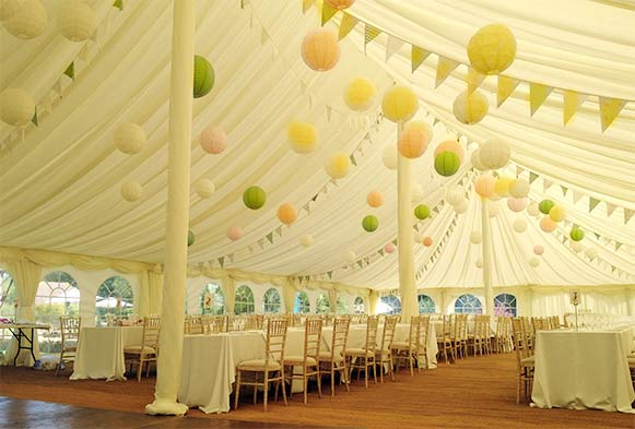 Traditional style tent for a wedding in Horsham