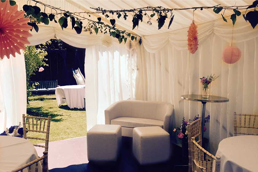 Party Tent In Long Thin London Garden Case Study