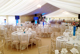Luxury marquee with colourful details