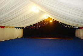 Inside the dancing marquee