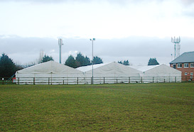 External view of finished marquee