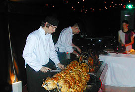 Serving hog roast