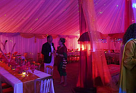 Dining in unusual marquees