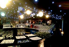 Circular bar in party marquee
