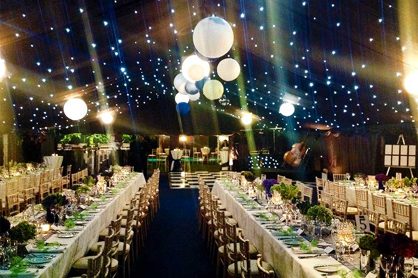 fiftieth party marquee