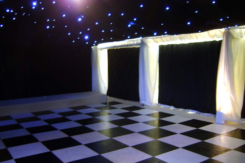 Wedding Marquee In Shabby Chic Style With Bunting Case