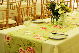 Fabric used for table runners