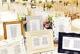 table plan display ideas