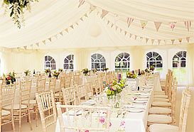 Marquee with bunting