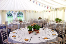 Natural themed wedding marquee