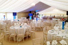 Unique marquee with quirky details