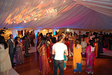 Marquee for an Indian wedding