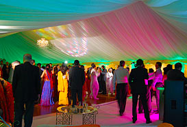 Dancing in a marquee