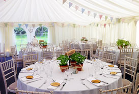 Natural themed marquee