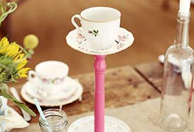 Cup on a candlestick