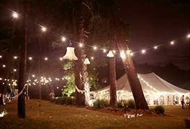 Marquee exterior with outdoorlighting