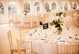 Marquee table decoration