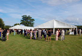 A two marquee wedding