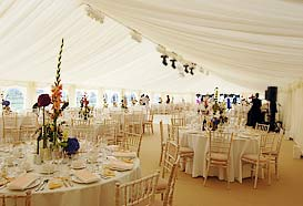 Large luxury marquee reception