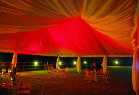 Red marquee lighting