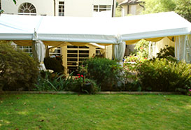 Flexible framed marquee