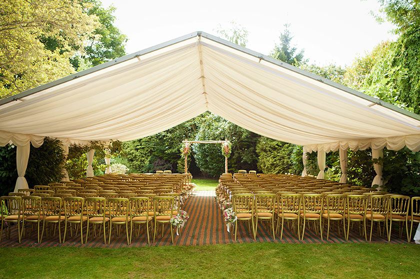 Marquee Wedding Blessing And Marquee Reception With Lanterns