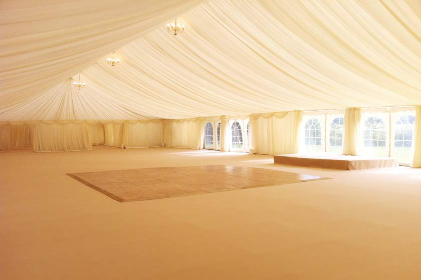 Plain marquee before the decoration & Colourful Indian Wedding Marquee | Marquee Hire Enfield