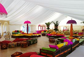 Indian style marquee in bright colours