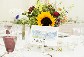 Hand-painted table names