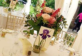 Tables named after flowers