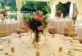 Classically decorated tables