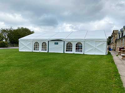 Five marquees spread around a school campus enable flexible space planning