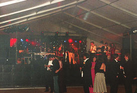 Marquee stage with lighting