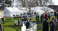 Corporate marquee at racecourse