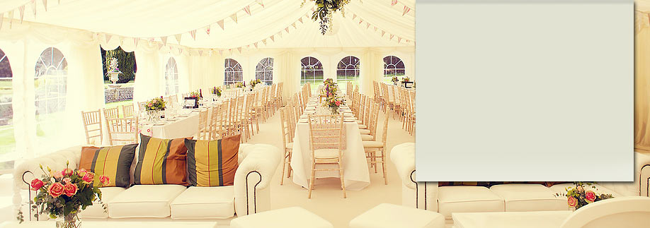 Marquee hire for wedding or party marquee hire london surrey marquee with chill out area and sofas photo by sarahgawler outside a wedding junglespirit Gallery