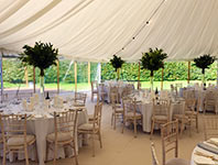 Wedding tent with open sides