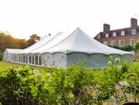Traditional style tent at Littlefield Manor