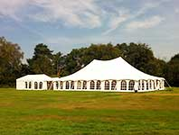 Traditional marquee and catering tent
