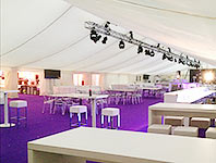 Interior of a corporate marquee event