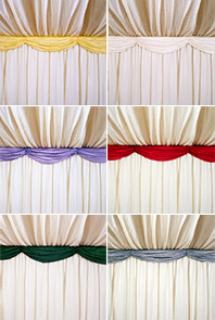 Decorative swags come in a wide range of colours