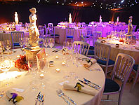 Large floral table centrepieces