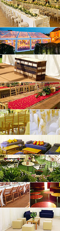 Assorted marquee furniture