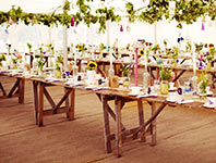 Marquee with coconut matting