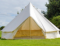 An unfurnished bell tent