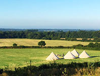 Glamping - four bell tents