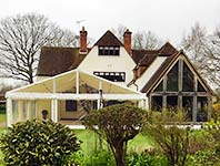 Marquee house extension