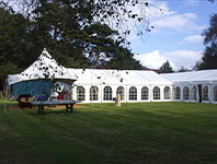 L-shaped marquee