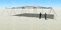 Stretch tent open sided canopy