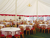 Traditional marquee inside